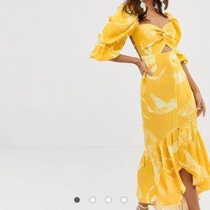 Yellow mermaid dress